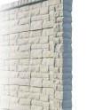 Betonzaunsystem Rockstone Anfangspfosten grau-braun 305x12x12,5