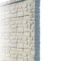 Betonzaunsystem Rockstone Anfangspfosten grau-braun 245x12x12,5