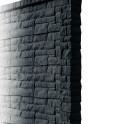 Betonzaunsystem Rockstone Anfangspfosten anthrazit 245x12x12,5