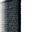 Betonzaunsystem Rockstone Anfangspfosten anthrazit 305x12x12,5