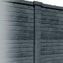 Betonzaunsystem Klassik-Stein Zwischenpfosten anthrazit 305x12x12,5