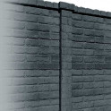 Betonzaunsystem Klassik-Stein Zwischenpfosten anthrazit 245x12x12,5