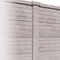 Betonzaunsystem Klassik-Stein Zwischenpfosten grau-braun 305x12x12,5