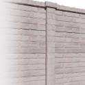 Betonzaunsystem Klassik-Stein Zwischenpfosten grau-braun 275x12x12,5