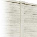 Betonzaunsystem Klassik-Stein Zwischenpfosten weiss-beige 245x12x12,5