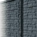 Betonzaunsystem Rockstone Zwischenpfosten anthrazit 305x12x12,5