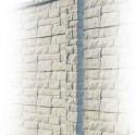 Betonzaunsystem Rockstone Zwischenpfosten grau-braun 245x12x12,5
