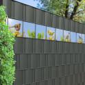 Bird Life Kreativstreifen mit verschiedenen Vögeln als Dekoration für den Gartenzaun