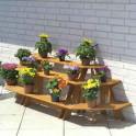 Blumenetagere Kombination zwei Eck- ein gerades Element
