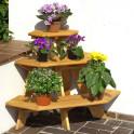 Blumenetagere Eckmodell für die Terrasse