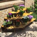 Blumenetagere aus Kiefernholz - Kombination