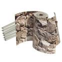 Lieferung 3 PVC Streifen Bruchstein hell mit Klemmmschienen