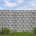 Sichtschutz Mattenzaun Paket inklusive Hart-PVC print Streifen