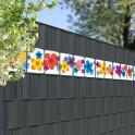 Dekorativer Kreativstreifen mit dem Motiv Bunte Blumen