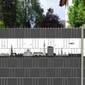 Gartenzaun mit der Skyline von Dortmund