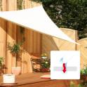 Dreiecksonnensegel 3,6 m creme weiß