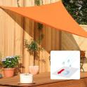 Dreiecksonnensegel mit Regenschutz Farbe terrakotta