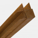 Eckpfosten für Bambuszaun, Cortenstahl