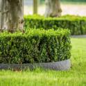 Beetbegrenzung aus recycletem Kunstoff im Garten