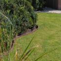 braune ECO-Streifen im Garten