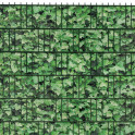 M-tec print® bedruckte Efeu Hecke - im Zaun eingeflochten