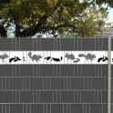 Sichtschutzmotiv Eichhörnchen im Doppelstabmattenzaun