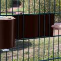 Einflechten von M-tec Profi-line ® braun PVC Sichtschutzstreifen