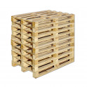 Einwegpalette aus solidem Holz, LxBxH 120x80x13 cm, 10 Stück