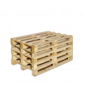 Einwegpalette aus solidem Holz stapelbar