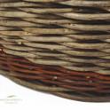 Detailbild des Erntekorbs aus Robinie und Weide
