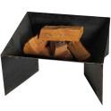 Feuerschale Pan2 - unlackiert mit Holz