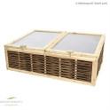 Frühbeet aus Lärchenholz - Deckeln aus lichtdurchlässigen Stegdoppelplatten