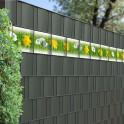 Kreativstreifen mit Frühlingswiesen Motiv im Sichtschutzzaun