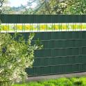 PVC Sichtschutzzaun mit Kreativstreifen Motiv  Frühlingswiese