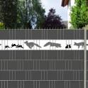 Füchse und Hasen als lebhafte Illustration für den Gartenzaun