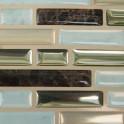 Glasmosaik Fliesen Gold-Braun metallic - Detailbild