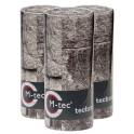M-tec print bedruckte Sichtschutzstreifen Granitmauer-9er Pack