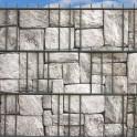 Bedruckte PVC  Sichtschutzstreifen Motiv Granitmauer