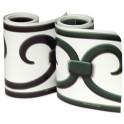 Rollen athrazit oder grün PVC Design Streifen Motiv Prag