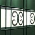 Detail grün PVC Design Streifen Motiv Merano
