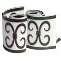 Rollen anthrazit + grün  PVC Design Streifen Motiv Merano