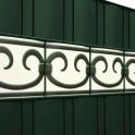 PVC Design Streifen Motiv Prag Detail Grün