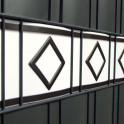 Detail PVC Design Streifen Hamburg weiß | anthrazit