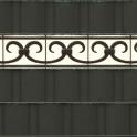 Klassische Zaundesign PVC Design Streifen Motiv Prag