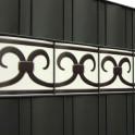 PVC Design Streifen Motiv Prag Detail Anthrazit