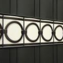 Sichtschutzzaun PVC Design Streifen Motiv Berlin