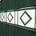 Detail weiß | anthrazit PVC Streifen Motiv Hamburg
