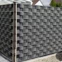 Müllplatz Sichtschutz mit Hart - PVC Zaunblendstreifen anthrazit 9,5cm