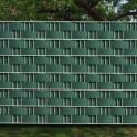 Garten Sichtschutz Hart - PVC Zaunblendstreifen moosgrün 9,5cm