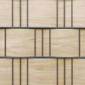 Holzmotiv im Hart-PVC Sichtschutzzaun